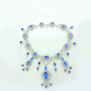 Pr Marie Bonaparte & Pr. Eugenie sapphire & Diamond nk