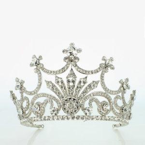 Swedish nine prong diamond tiara