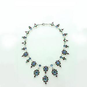 3 colour cabochon necklace